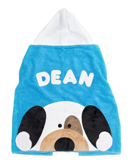 Boogie Baby Peek-a-Boo Puppy Hooded Towel, Personalized