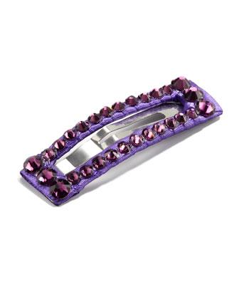 Large Rhinestone Clip, Purple