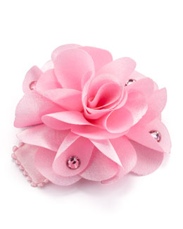 Bari Lynn Feel Good Flower Small Clip, Light Pink