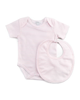 Kissy Kissy Personalized Striped Bib