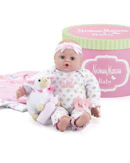 Adora Neiman Marcus Baby Doll Set in Hat Box