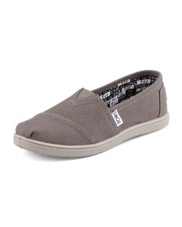 TOMS Classic Canvas Slip-On, Ash, Youth