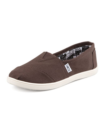Classic Canvas Slip-On, Chocolate, Youth