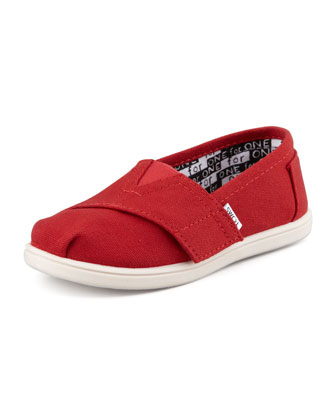 Classic Canvas Slip-On, Red, Tiny