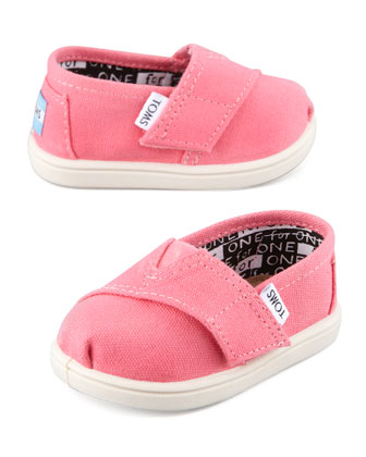 Classic Canvas Slip-On, Pink, Tiny