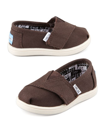 Classic Canvas Slip-On, Chocolate, Tiny