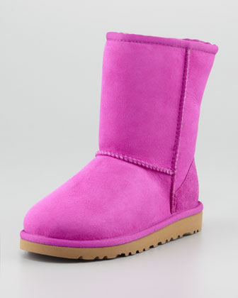 Youth Classic Short Boot, Cactus Flower