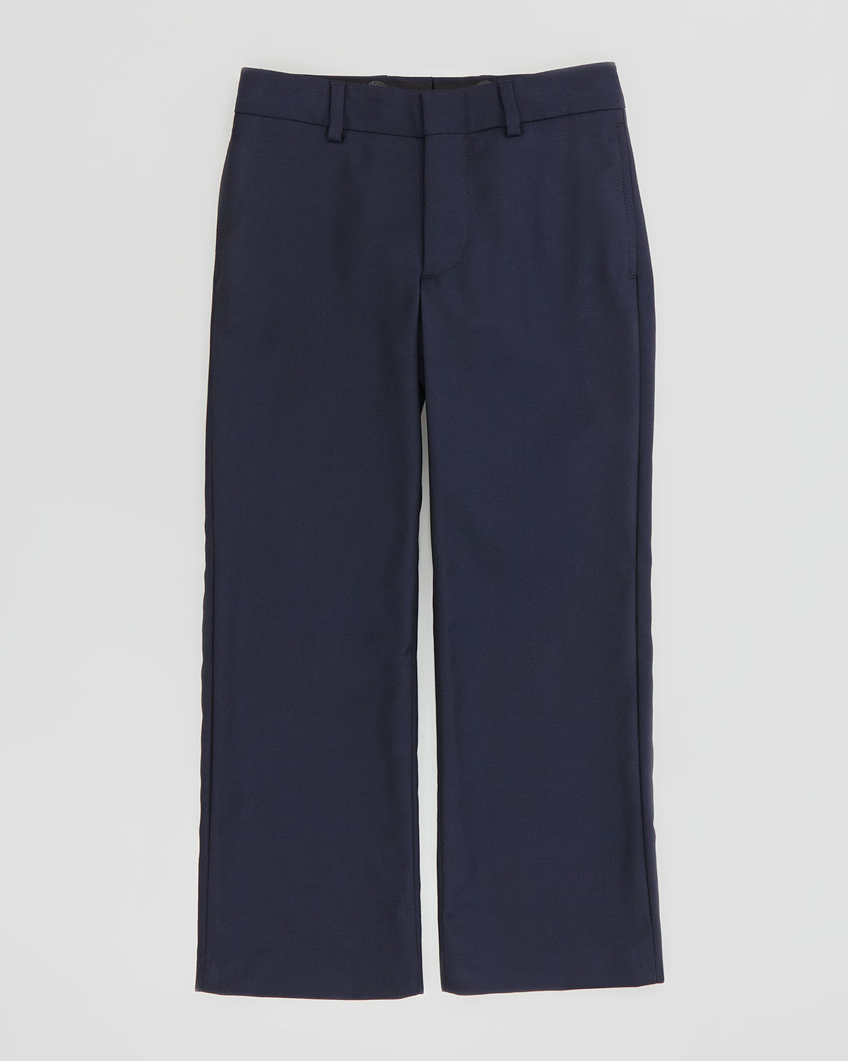 Wool Twill Flat Front Pants, Navy, Sizes 2 3   Ralph Lauren Childrenswear