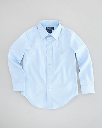Lowell Long-Sleeve Dress Shirt, Elite Blue, Sizes 2-3