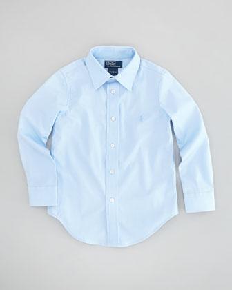 Lowell Long-Sleeve Dress Shirt, Elite Blue, Sizes 2-3