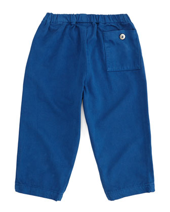 Toddler Boys' Twill Pants, Blue