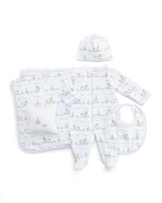 Noah's Island Printed Baby Blanket, Pink