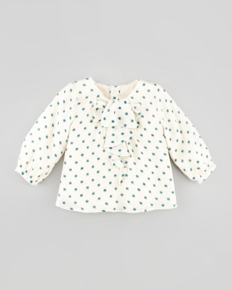 Printed Silk Blouse, 6Y-10Y