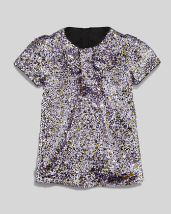 Sequin Shift Dress, Purple, Sizes 6-10