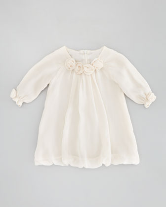 Rose Blouson Dress, Cream, 6-24 Months
