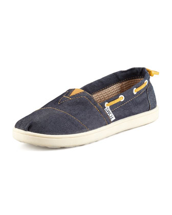 Denim Bimini Boat Shoe, Youth