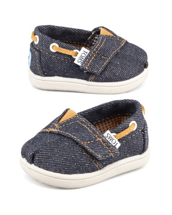 Tiny Denim Bimini Shoe, Navy