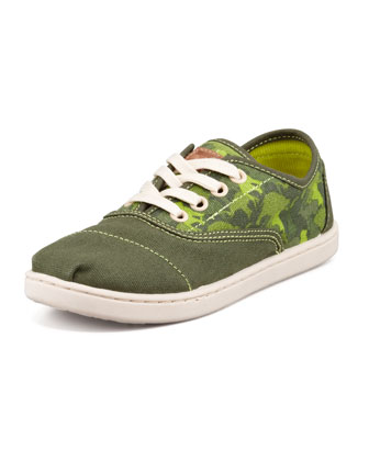 Youth Animal-Camo-Print Cordones, Green