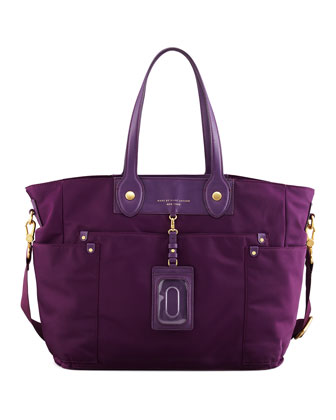 Preppy Nylon Eliz-A-Baby Diaper Bag, Pansy Purple