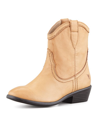 Carson Shortie Leather Boot, Tan