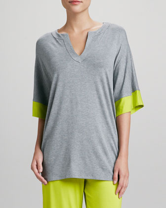 Maricar Pajama Top, Light Heather Gray