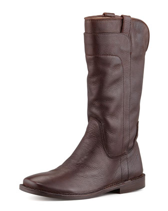Paige Tall Riding Boot, Dark Brown