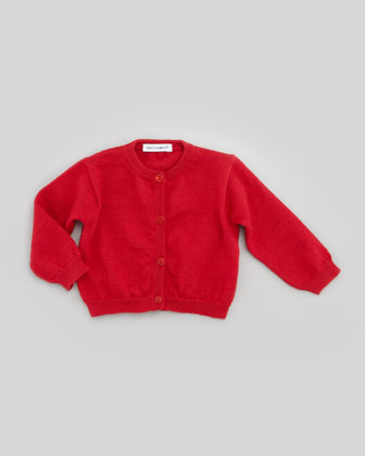 Infant Button-Down Knit Cardigan, Dark Red, 3-18 months