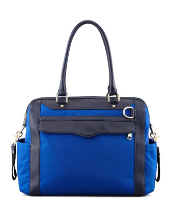 Knocked Up Nylon Diaper Bag, Royal