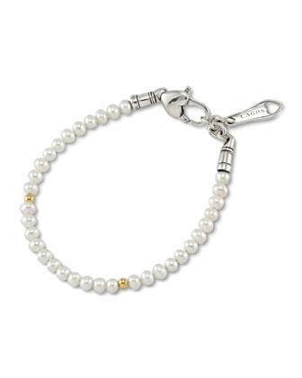 Kinder Pearl & Gold Cavier Bracelet
