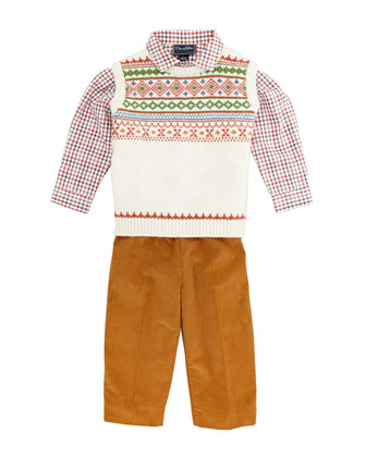 Boys' Corduroy Pants, Camel, 18M-3Y