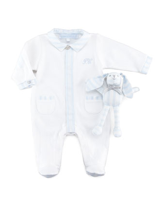 Pajamas & Bunny Newborn Gift Set, Light Blue