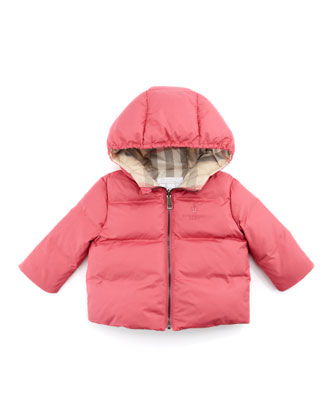Quilted Puffer Coat, Pink, 3-18 Months