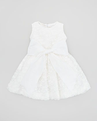 Crocheted Cupcake Dress, White, Sizes 4-6X