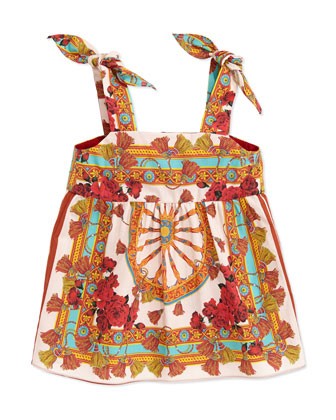 Wheel-Print Sleeveless Dress, 3-18 Months