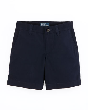 Preppy Cotton Shorts, Aviator Navy, Sizes 4-7