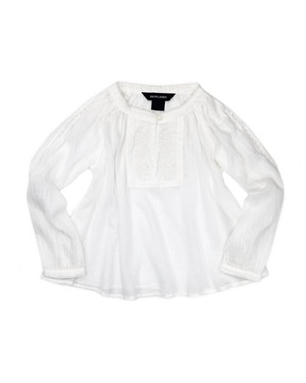 Lightweight Gauze Tunic, White, 2T-3T