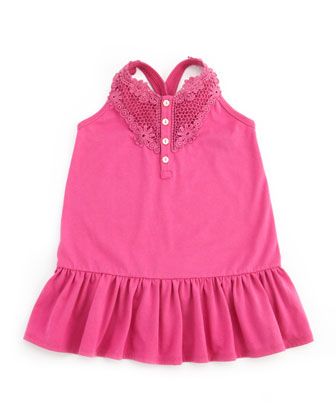 Drop-Waist Little Tank Dress, Belmont Pink, 9-24M