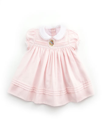 Cameo Pleated Dress, 3-9M