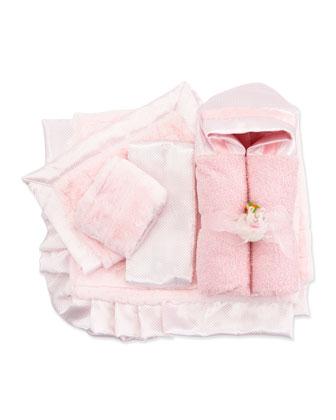 Swiss Dot & Plush Stripe Receiving Blanket, Security Blanket, Hooded Towel ...