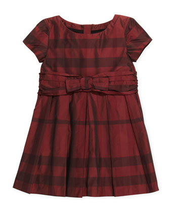 Check-Taffeta Party Dress, 4Y-10Y
