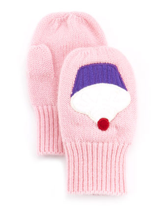 Toddler Girls' Cashmere Cupcake Mittens, Pink