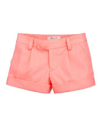 Bow-Pocket Shorts, Coral, Sizes 2-6