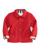 Quilted Jacket, Red, 6-18 Months