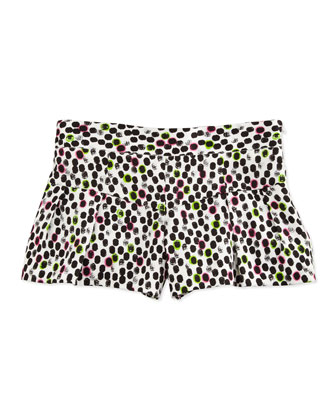 Ocelot-Print Cotton-Sateen Shorts, Multi