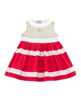 Colorblock Nylon Dress, Multi, 3-24 Months