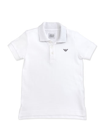 Boys' Basic Polo & Stretch-Gabardine Shorts