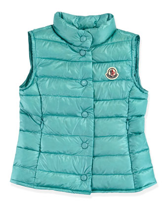 Liane Long Season Packable Vest, Turquoise, Sizes 2-6
