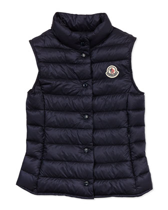 Liane Long Season Packable Vest, Navy, Sizes 8-10