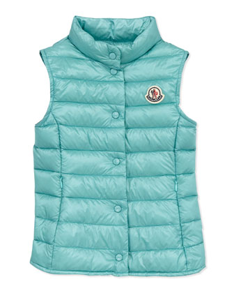 Liane Long Season Packable Vest, Turquoise, Sizes 8-10
