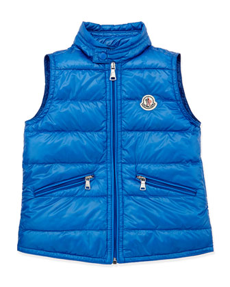 Gui Lightweight Puffer Vest, Blue, Sizes 2-6